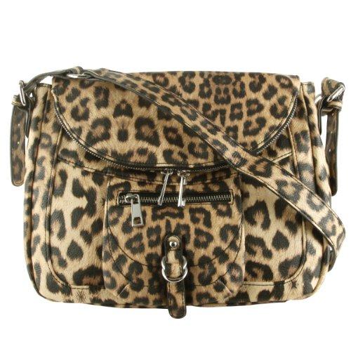 Jessica Simpson Saskia Messenger Bag-Leopard