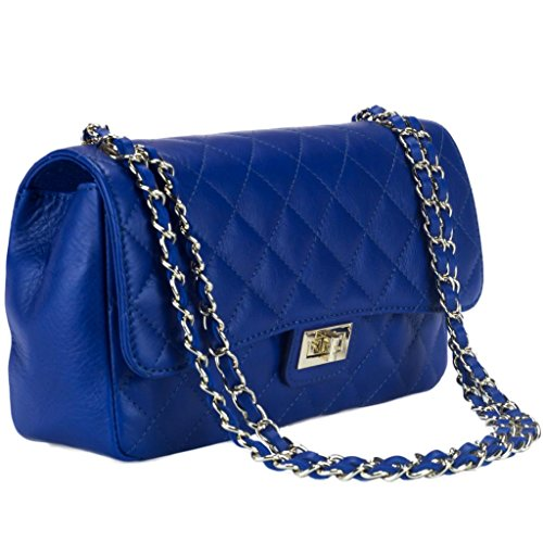 HS 6078 BB DITA Made in Italy Electric Blue Shoulder Bag