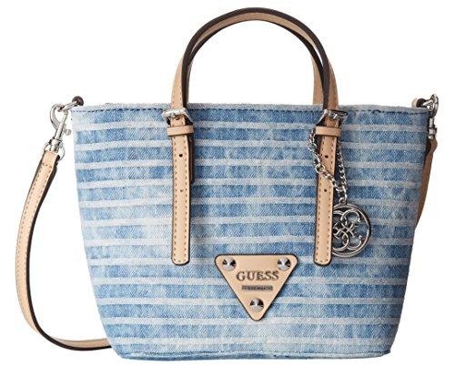 GUESS Delaney Denim Mini Tote Bag, Blue