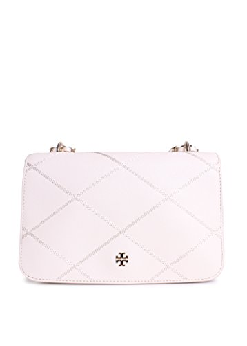 Tory Burch Robinson Stitched Adjustable Shoulder Bag in New Ivory