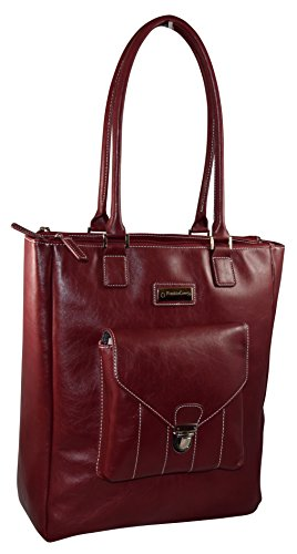 Franklin Covey Women's 15.4 Inch Business Laptop Tote Bag Red