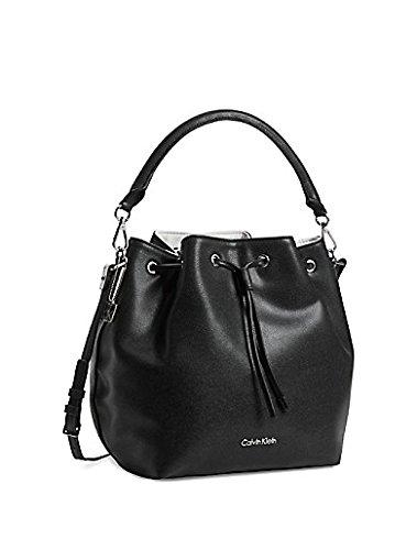 Calvin Klein Madeline Drawstring Bucket Bag Black Caviar