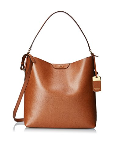 NEW AUTHENTIC RALPH LAUREN TATE LEATHER HOBO (Tan Cocoa)