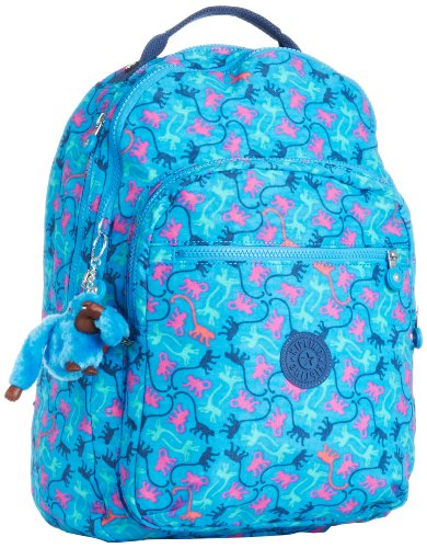 Kipling Women's Clas Seoul Backpack One Size Monkeymania Sky