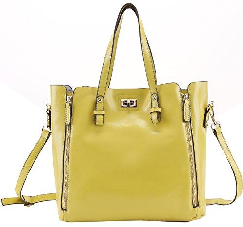 Heshe Women's Vintage Genuine Leather Lash Package Cross Body Shoulder Bag Top-handle Handbag Messenger Tote
