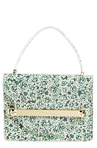 Tory Burch 'Marquis' Leather Top Handle Bag, Queen Anne's Lace
