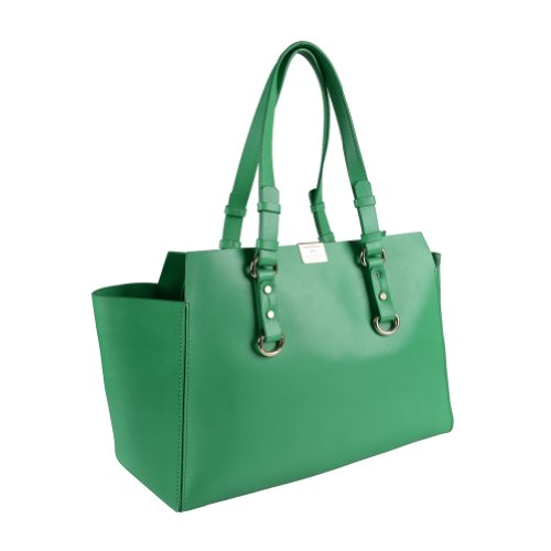 Dsquared Bright Green Leather Tote Shoulder Bag