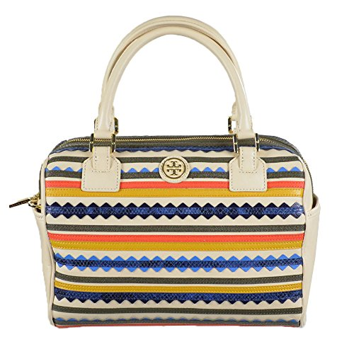 Tory Burch Robinson Zig-Zag Middy Convertible Satchel Deep Hazel/Yellow Ochre Multi