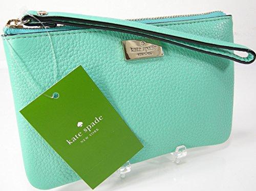 Kate Spade Wristlet Purse Bag Genuine Leather Bee Highland Aqua Givernyble