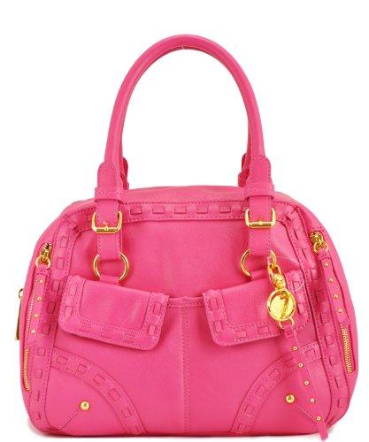 Jessica Simpson Road Trip Satchel Top Handle Bag, Beet, One Size