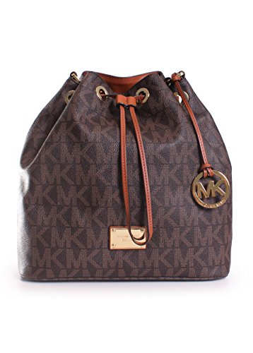 MICHAEL Michael Kors Jules Large Drawstring Shoulder Bag in Signature Brown