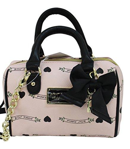 Betsey Johnson Hearts Be Mine Bow Pink Blush Shoulder Crossbody Bag