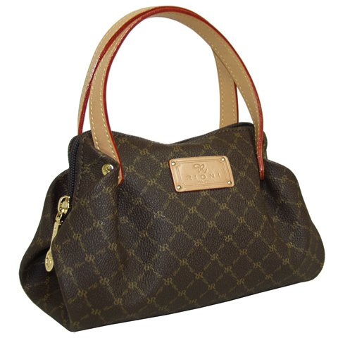 Signature Brown Evening Baby Bag by Rioni Designer Handbags & Luggage