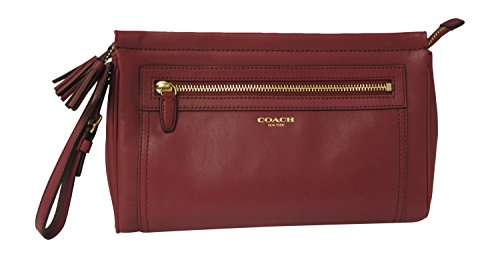 Coach Leather Large Clutch (F48021) Brass/deep Port