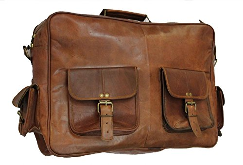 Vintage Crafts 18 Inch Genuine Leather Satchel Messenger Shoulder Cross-body Smart Casual Office Uni College Vintage Bag