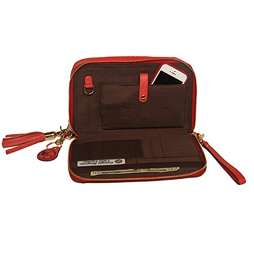Concealed Carrie Red Compact Concealed Carry Purse