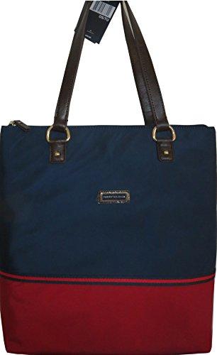 Tommy Hilfiger Handbag Tote Shopper Bag Canvas Navy Large