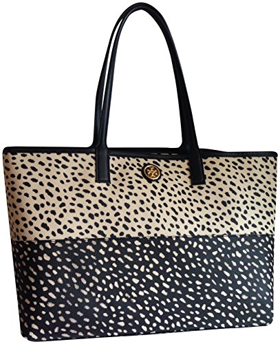 Tory Burch Kerrington Pony Print Polka Dots Shopper Tote