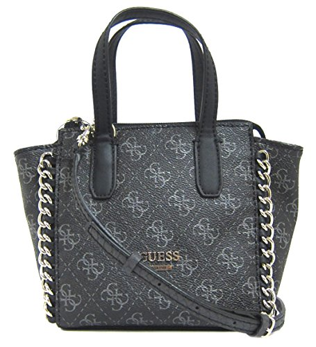 GUESS Confidential Logo Chain Mini Tote Bag, Coal