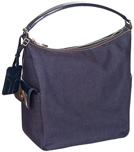 Yves Saint Laurent Women's Denim Purse Shoulder Bag Hobo