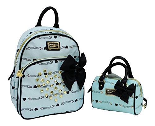 Betsey Johnson Backpack and Handbag Set Mint