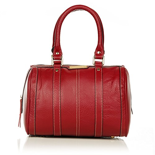 aretha Women Baguette Genuine Small Cow Leather Stachel Handbag