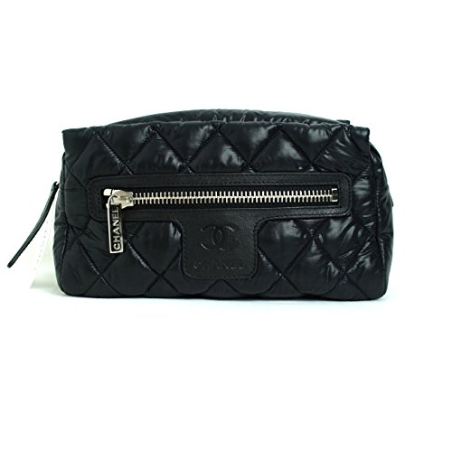 [CHANEL] COCO Cocoon Black Travel Makeup Pouch