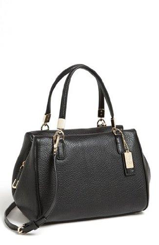 Coach Madison Leather Mini Black Leather Satchel – Style 49720