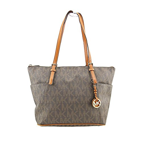 MICHAEL Michael Kors East West Top Zip Tote in Signature PVC
