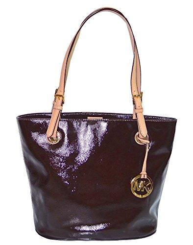 Michael Kors Bag Mocha Leather Jet Set Item MD Tote Handbag Purse