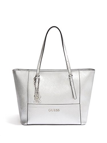 GUESS Women's Delaney Rose Gold Small Classic Tote