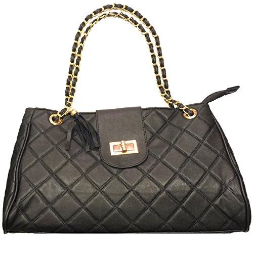 Josi Minea® Beautiful & Elegant Quilted Leather Handbag / Shoulder Bag
