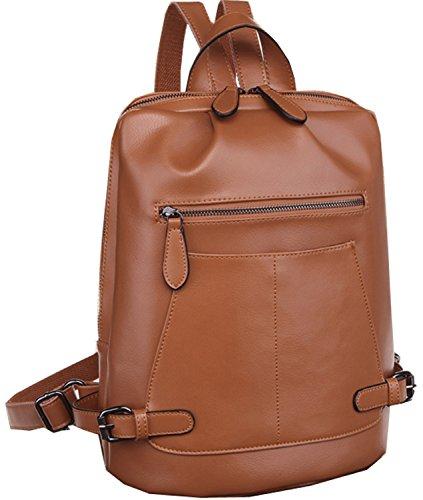 Heshe 2015 New Fashion Genuine Leather Women's Backpack Handbag Hobo and Messager Bag