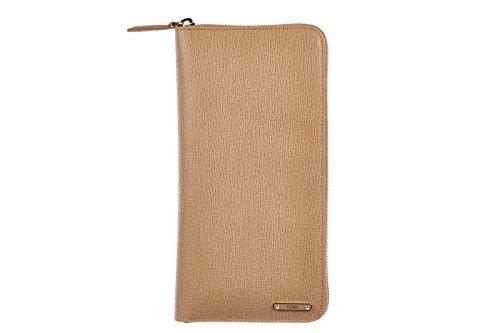 Fendi women's wallet leather coin case holder purse card bifold elite pink
