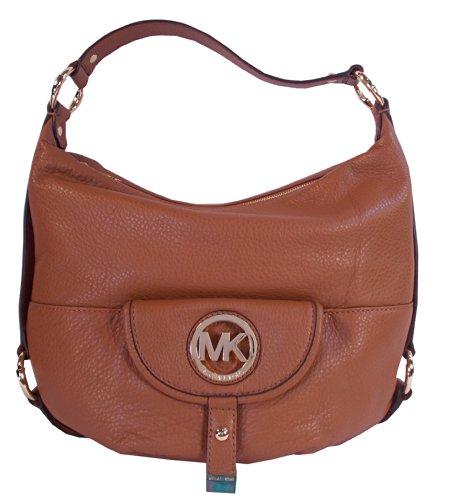 Michael Kors Fulton Large Luggage Brown Leather Shoulder Bag