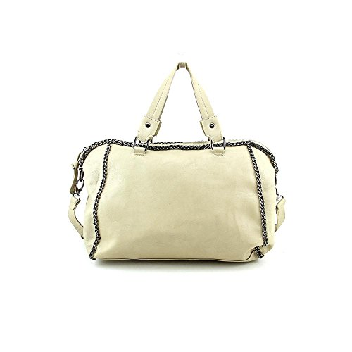 Steve Madden DB190925 Womens Nude Purse Faux Leather Satchel