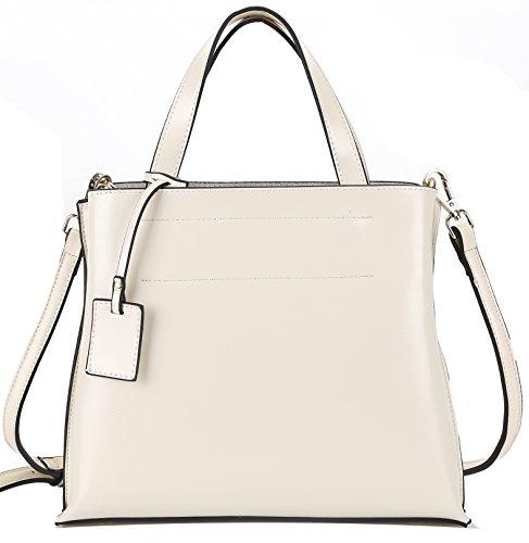 Heshe 2014 New Genuine Leather Fashion Women's Designer Tote Cross Body Shoulder Bag Handbag