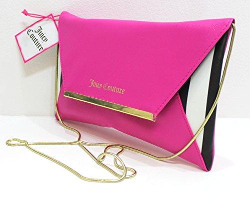 Juicy Couture Parfums Pink, Black & White Clutch/handbag/shoulder Bag