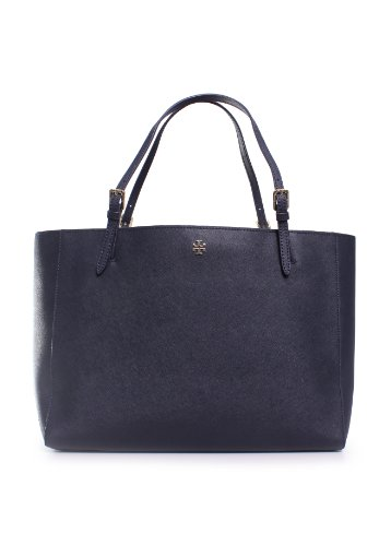 Tory Burch York Buckle Tote in Tory Navy