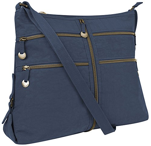 Travelon RFID Expanding Convertible Crossbody Bag – Navy
