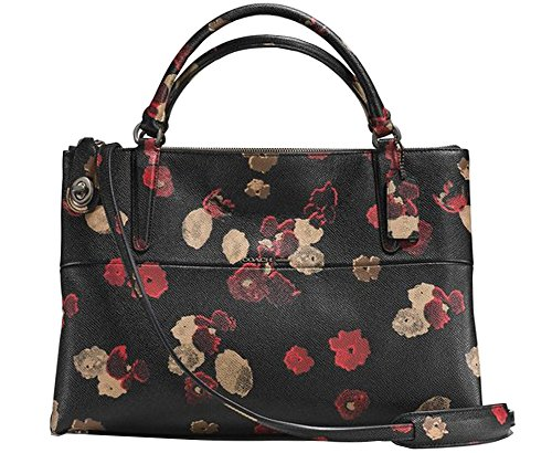 New Without Tag Coach Turnlock Borough bag handbag purse In Floral Print Leather Retail Price $595