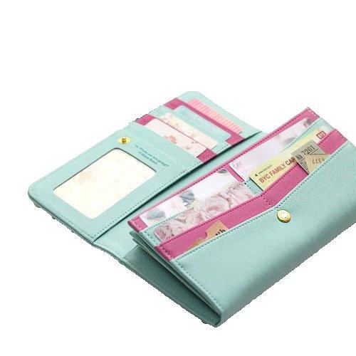 Women Cute Style Shinzi Katoh Pu Leather Handbag Clutch Wallet Mint 14436