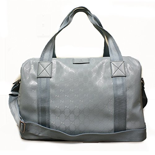 Gucci 374769 Gucci GG Logo Blue Imprime Duffle Bag Carry-On Travel