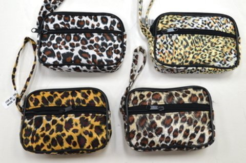 Wholesale Animal Print Wristlet Coin Purse [300 Pieces] *** Product Description: Wholesale Animal Print Wristlet Coin Purse. Comes In 4 Assorted Animal Print Designs. Has 2 Zippers And Matching Strap. Item Is Packed 1 Dozen Per Poly Bag And 300 P ***