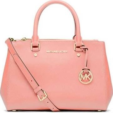 Michael Kors Sutton Small Saffiano Leather Satchel in PALE PINK