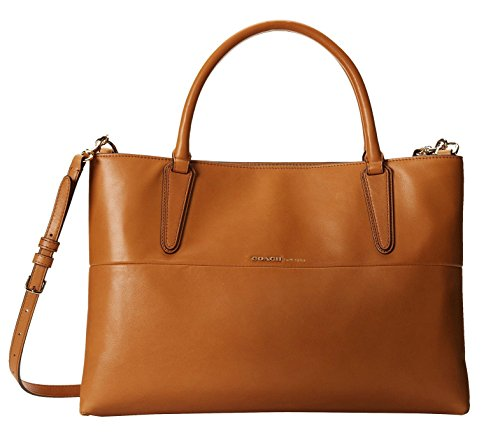 Coach Soft Borough Bag in TAN Leather
