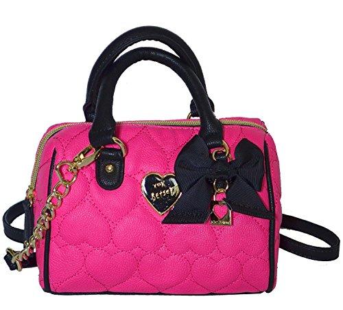 Betsey Johnson Be Mine Mini Speedy XBody Crossbody Bag Handbag