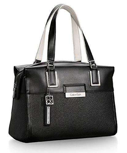 Calvin Klein Valerie Bowler Satchel Bag Handbag (Black)