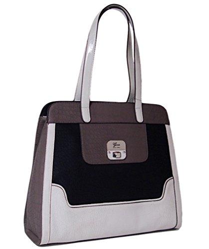 Guess Nashi Tote Satchel Bag Handbag Purse, Black Multi