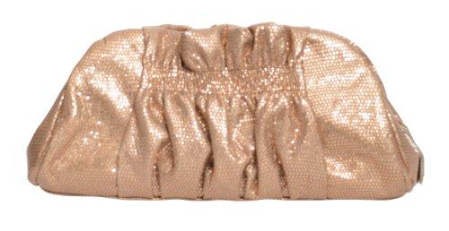 Henri Bendel Chic Ruched Purse Clutch Chain Bag Handbag